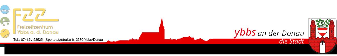 FZZ Logo, Silhouette Ybbs, Stadtwappen Ybbs